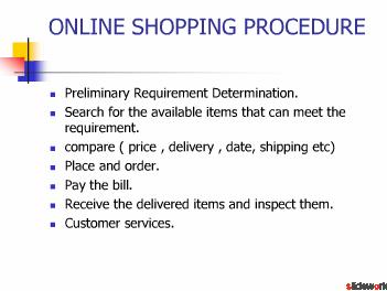 online shopping procedure