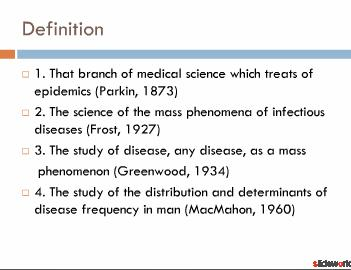 Basic of epidemiology