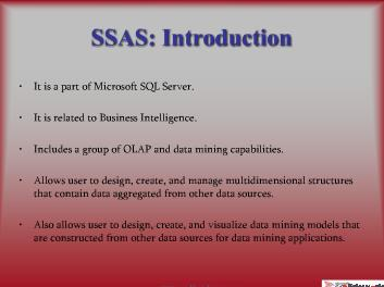SSAS Development