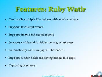 Ruby Watir Testing