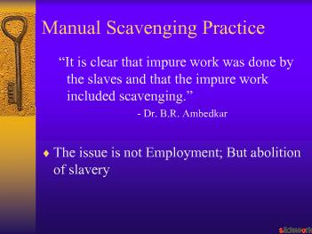 Campaign against Manual scavenging practice