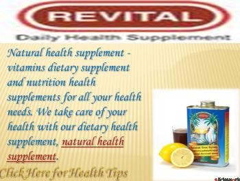 Health Fitness Powerpoint(PPT) Presentation  MyRevital by Ravikant Sharma