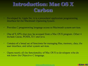 Mac OS X Carbon Development