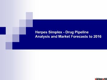 Herpes Simplex - Drug Pipeline Analysis and Market to 2016