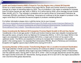 South and Central America National Oil Companies (NOC)