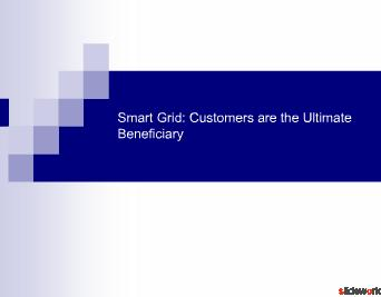 Smart Grid Customers are the Ultimate Beneficiary