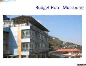 Budget Hotels Mussoorie