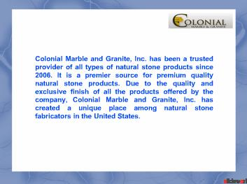 Colonial Marble and Granite, Inc.