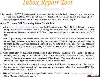Inbox Repair Tool