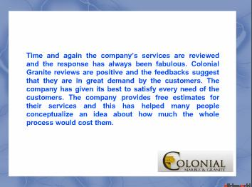 Colonial Granite Reviews