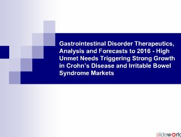 Gastrointestinal Disorder Therapeutics, Analysis and Forecasts to 2016