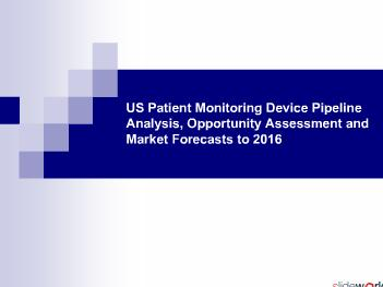 US Patient Monitoring Device Pipeline Analysis to 2016