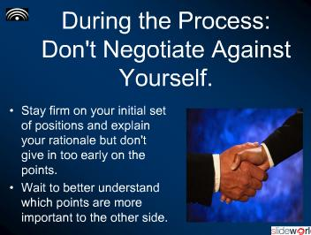 Four Rules for Effective Negotiations
