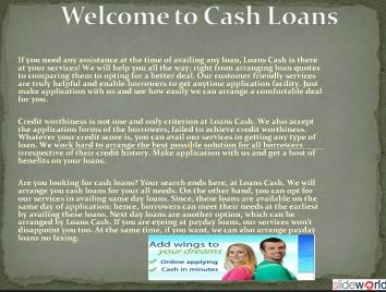 Cash Loans- Payday Loans No Faxing- Next Day Loans