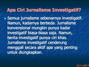jurnalisme investigatif