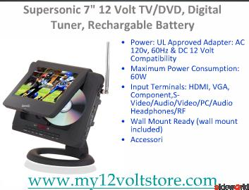 12 Volt TV, 12 Volt Televisions, 12V TV, Digital TV