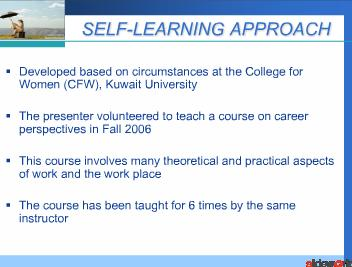 FACILITATION OF STUDENT SELF-LEARNING - CAN IT BE IMPLEMENTED SUCCESSFULLY IN THE GULF COOPERATION COUNCIL COUNTRIES
