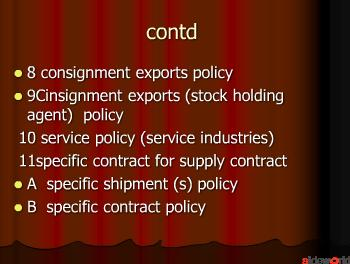 export procedures