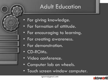 Use of ICT in non-formal education