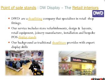 Shopfitting and display stands from DW Display