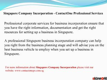 Singapore Company Incorporation