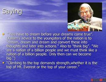 The Missile Man- Dr. A.P.J. Abdul Kalam