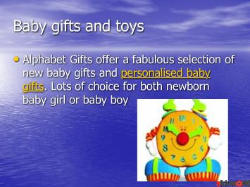 Personalised children gifts and baby gifts