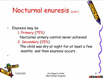 Pediatric Enuresis
