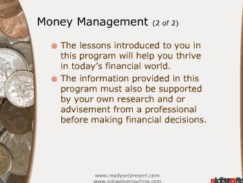 Money Management - Personal (Modern) PowerPoint Presentation Content 172 slides