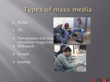role / progrees / effecsts of mass media in pakisan