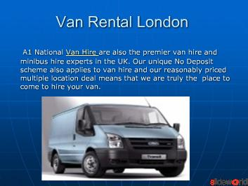 Van rental london