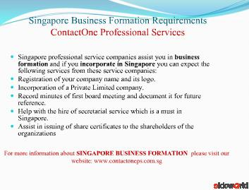 Singapore Business Formation