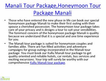 Manali Tour Package,Manali Tour Packages,Tour Packages for kullu Manali