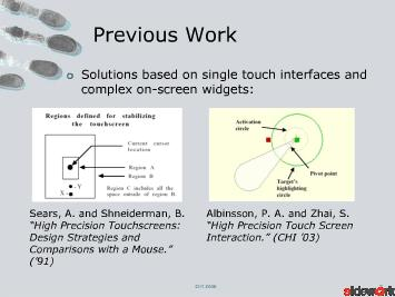 Precise Selection Techniques for Multi-Touch Screens