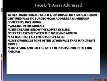 FaceLift - Dr. Kris Reddy FACS