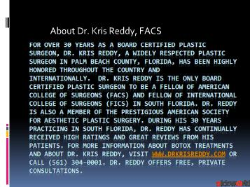 Botox - Dr. Kris Reddy FACS