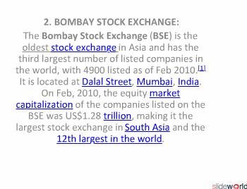 stock exchange of the world