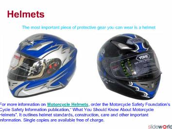 Cycle Safety Information---Personal Protective Gear For the Motorcycleclothing