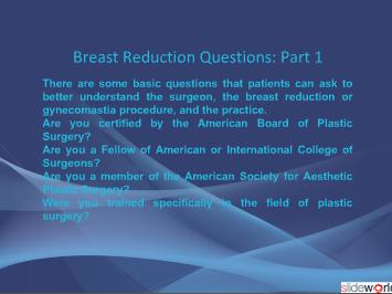 Breast Reduction - Dr. Kris Reddy FACS