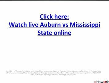 NCAAFB Watch here live Auburn vs Mississippi State on online in PC
