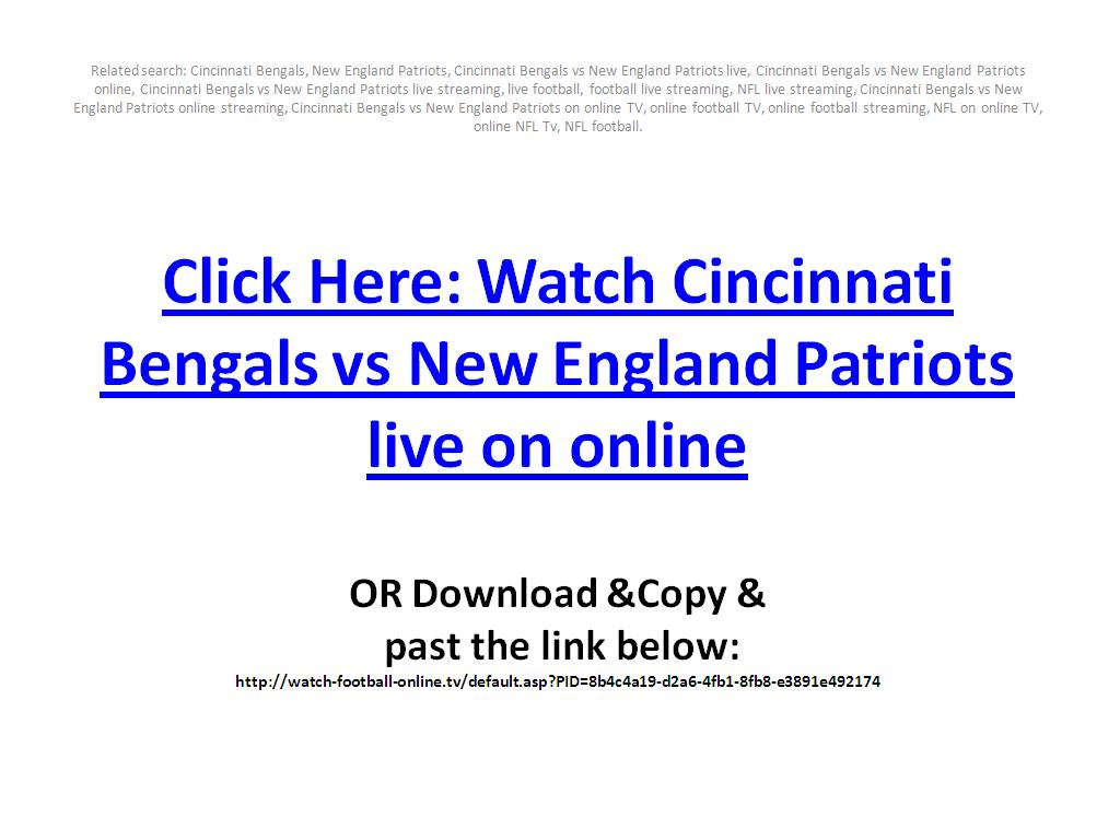 Watch Cincinnati Bengals vs New England Patriots live streaming online in Week 1, NFL Regular Season