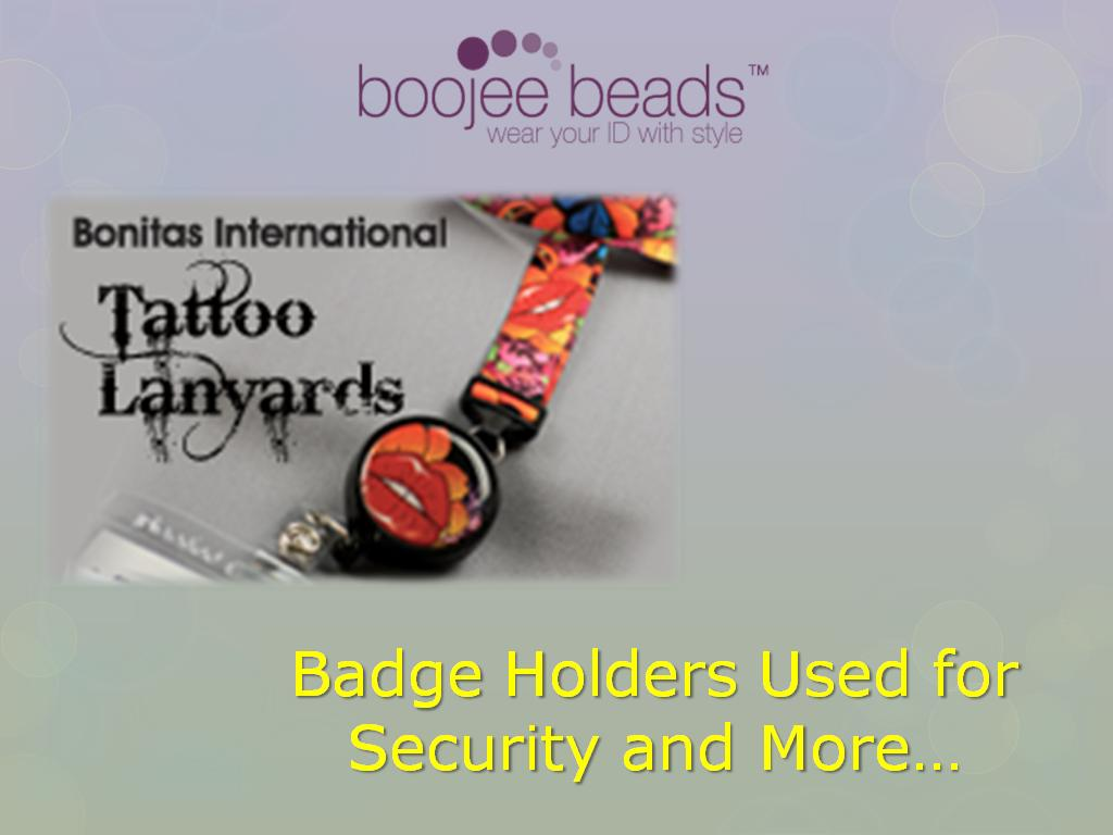 Boojee Beads Badge Holders Used for Security and More