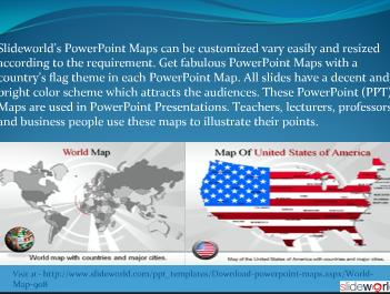 Map Powerpoint (PPT) Template  Powerpoint Map Powerpoint Presentation