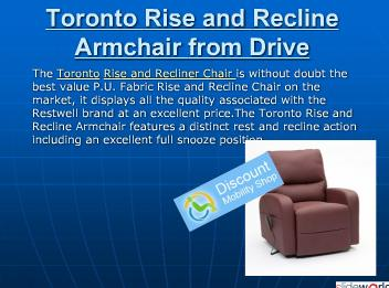 Toronto Rise and Recline Armchair