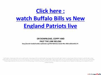 Buffalo Bills vs New England Patriots live streaming NFL on online in Week 3