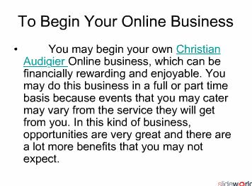 To Begin Your Online Business