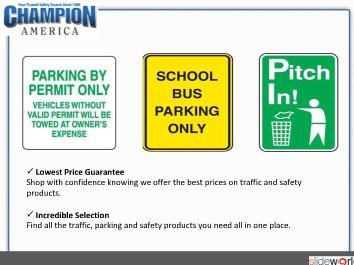 Traffic  Parking Signs – Champion-America.com