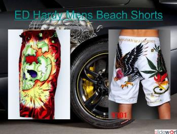 ED Hardy Mens Beach Shorts