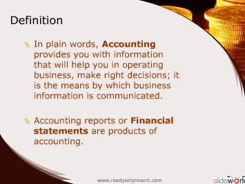 Accounting  Financial Terminology (Modern) PowerPoint Content
