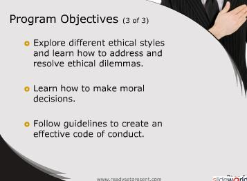Workplace Ethics (Modern) PowerPoint Content